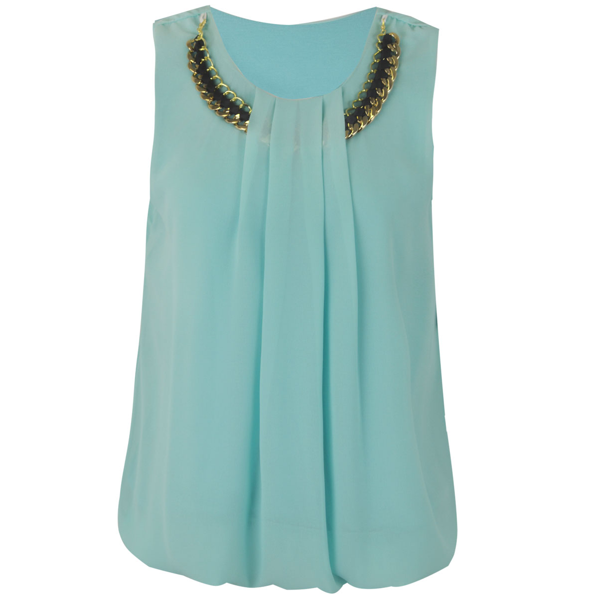 Ziza Chain Detail Sleeveless Blouse 14